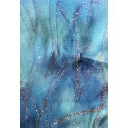 Trazos purpurina azul color 3
