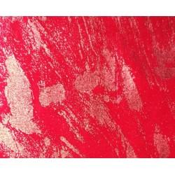 Terciopelo graffiti rojo