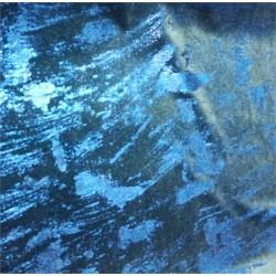 Terciopelo graffiti azul