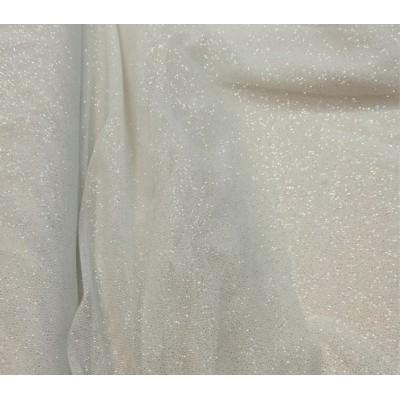 Tul glitter Pandora blanco