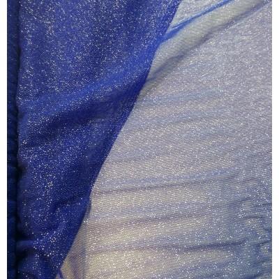 Tul glitter Pandora azul royal