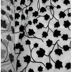 Tul Elli hojas blanco